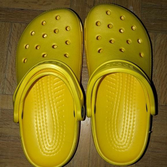 CROCS Shoes | Womens Yellow Crocs Size